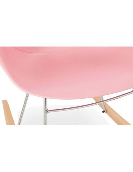 Fauteuil à bascule rose
