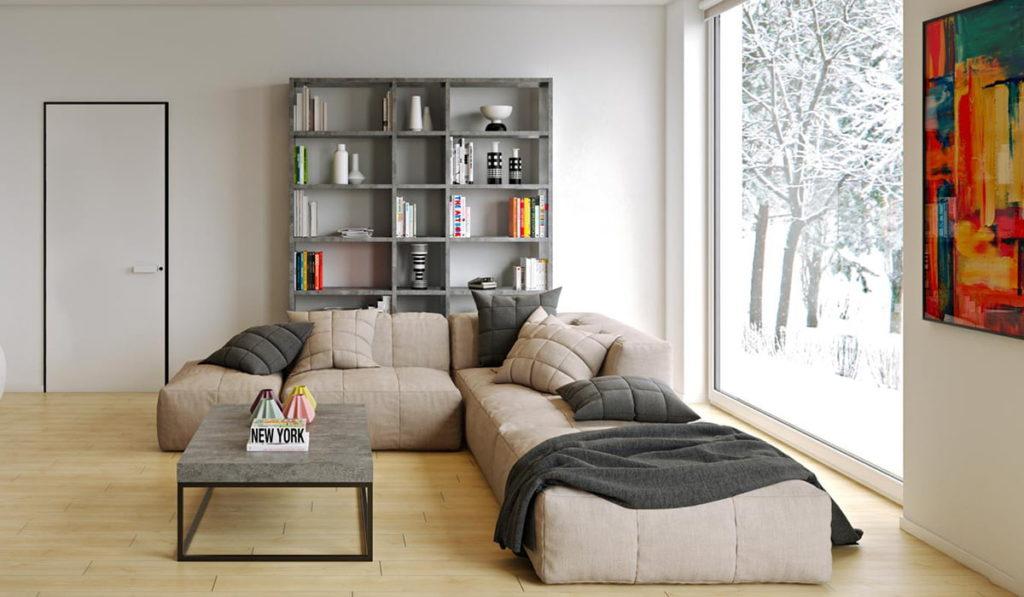 table basse avec canape angle