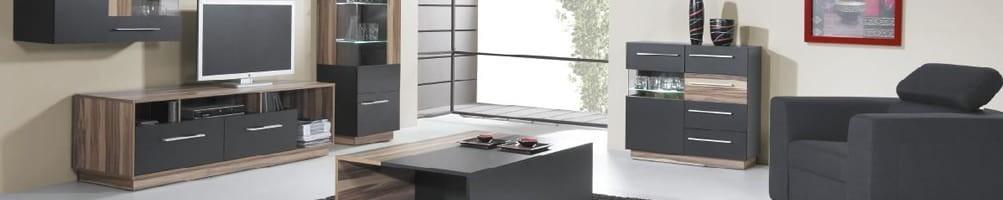 Meuble de salon noir design - Collection Black - House and Garden