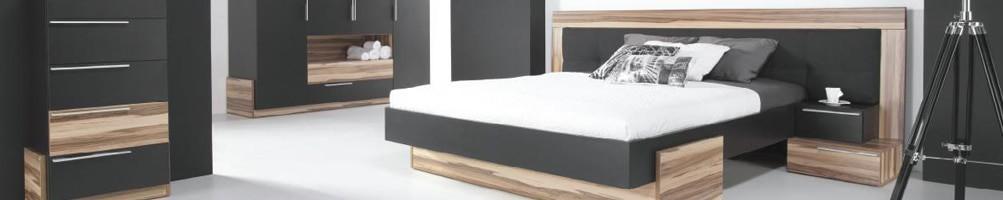 Chambre à coucher noire Black design - House and Garden