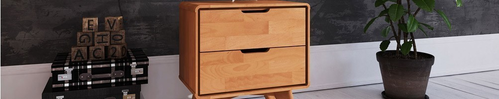 Chevet bois massif et tables nuit design - House and Garden
