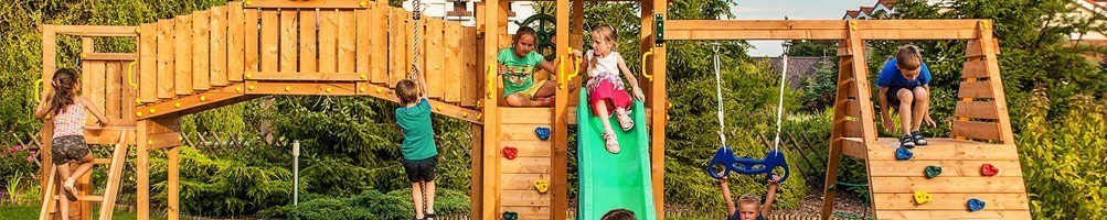 Aires de jeu enfant en bois massif - House and Garden
