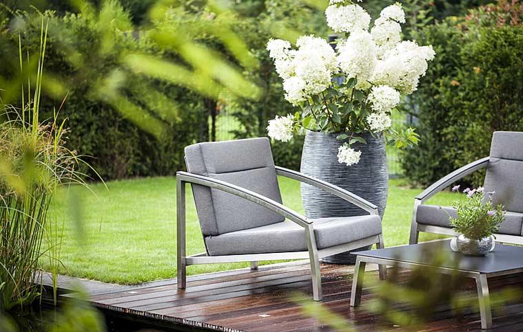 Fauteuil outdoor todus alcedo inox design