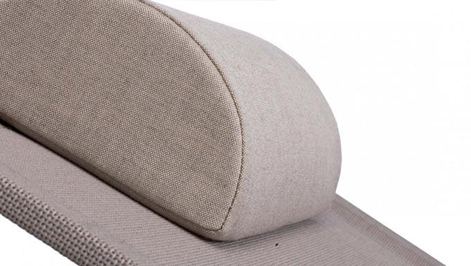 Appui-tête amovible tissu alcedo