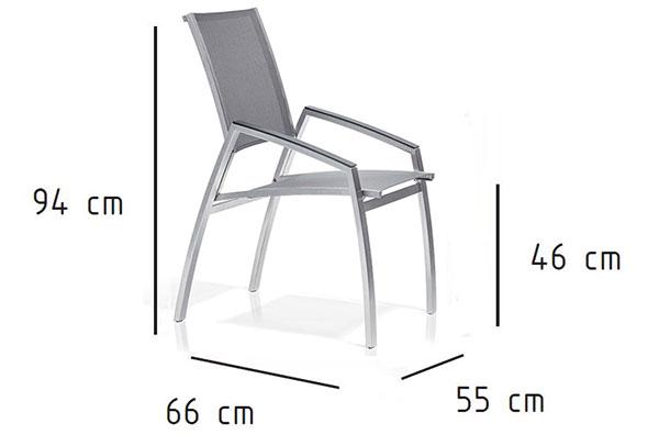 Dimensions du fauteuil d