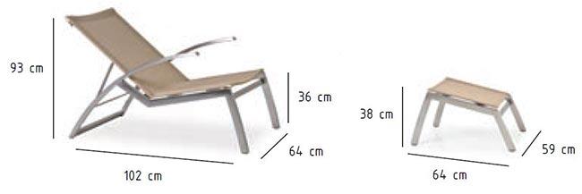 Dimensions fauteuil d