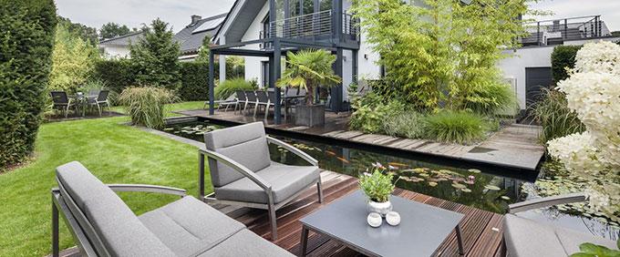 salon bas de jardin luxe
