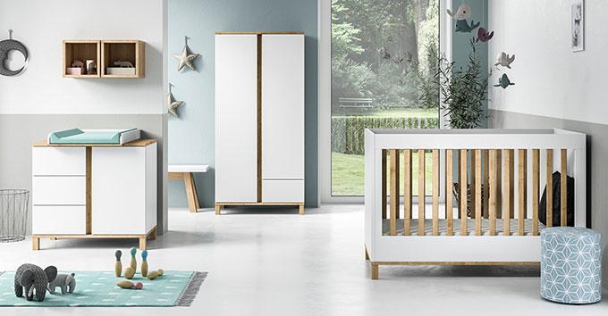 armoire bébé design blanche