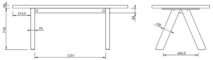 Dimensions table à manger 6 places