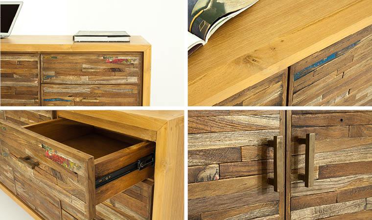 meuble de rangement vintage en teck