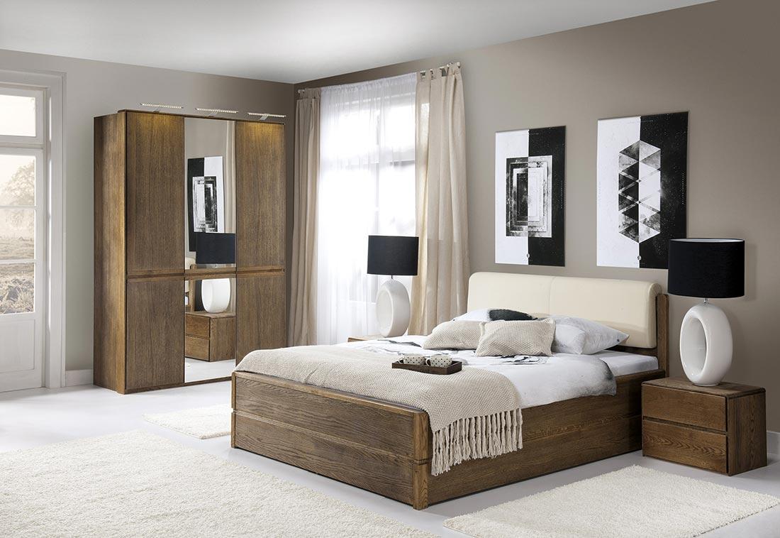 Chambre design en chêne brossé