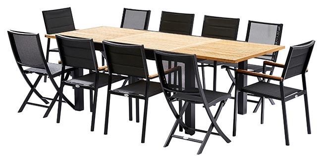 Chaises de jardin noires design