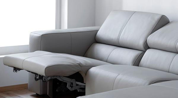 Canapé en tissu relax électrique 2 places