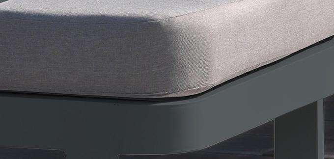 detail tissu gris salon jardin