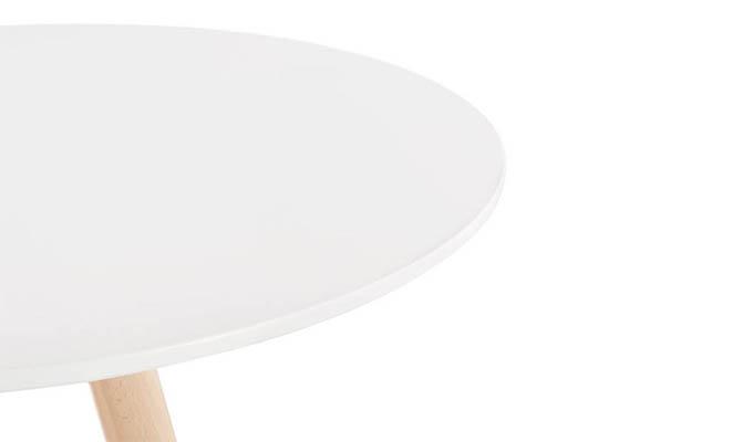 plateau rond blanc