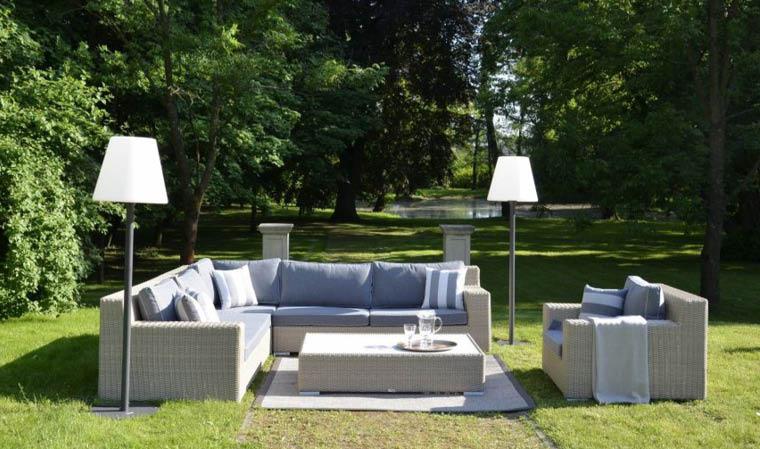 Salon bas de jardin 5 places cosy en résine tressée pour jardin