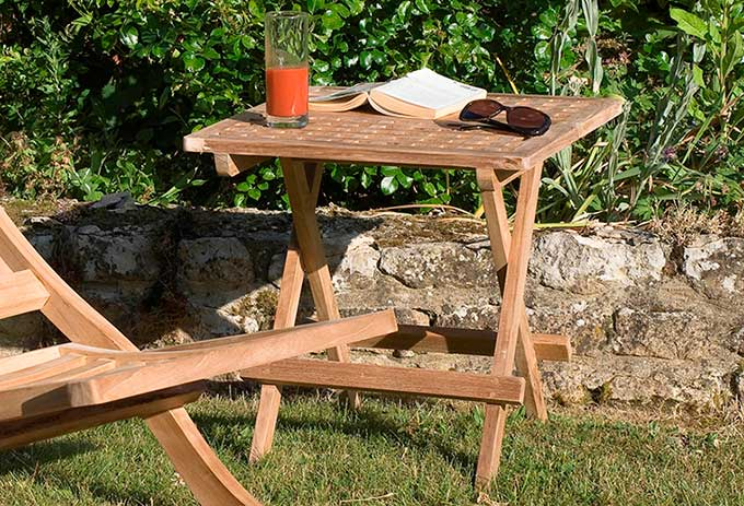 Table d'appoint de jardin