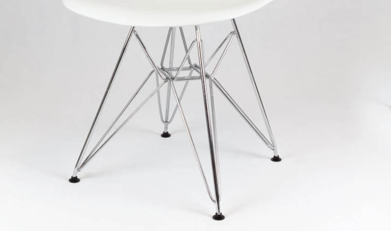 Chiase blanche design en métal et plastique