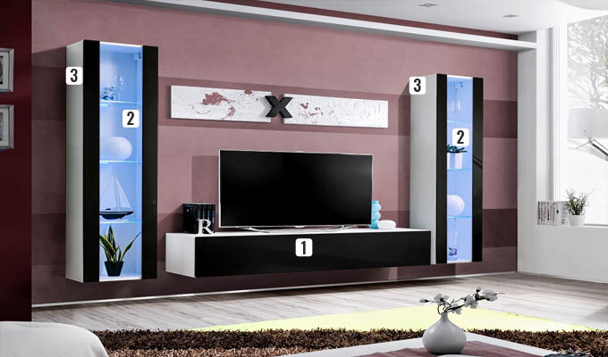 set meubles tv flyn