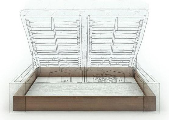 coffre de rangement pour lit bois massif