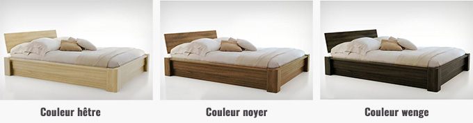 lit coffre bois massif