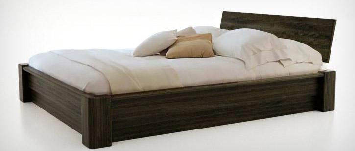 lit bois massif rangement coffre