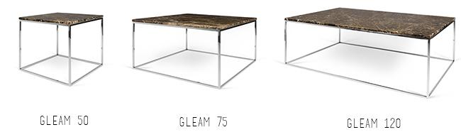 Table basse carrée marbre marron emperador