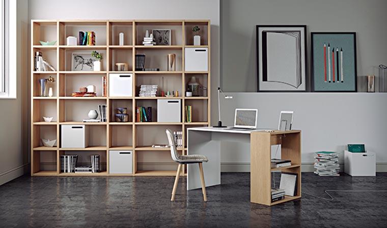 bureau design et fonctionnel en bois
