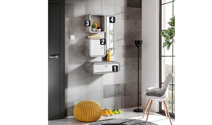 meubles muraux béton