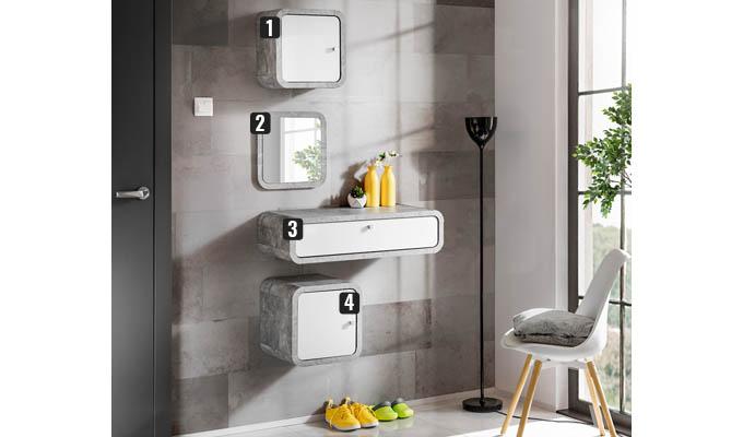 meubles muraux beton