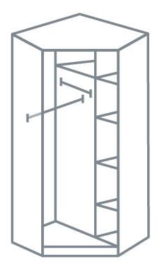 armoire angle plan