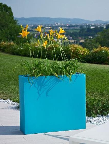 jardiniere kube hight slim vert emeraude