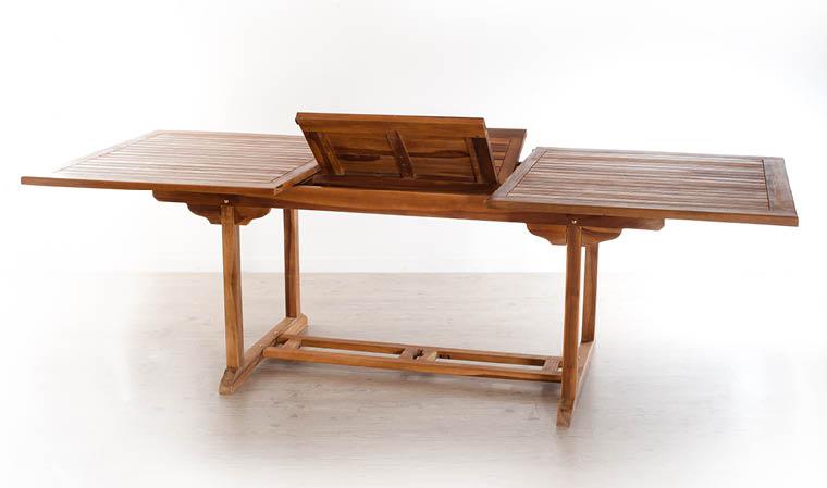 Table de jardin extensible en teck huilé