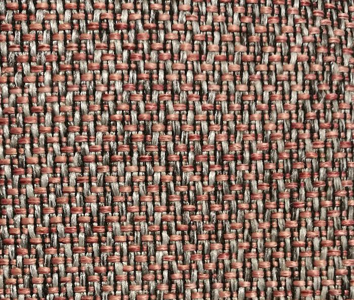 Tissu couleur rouille