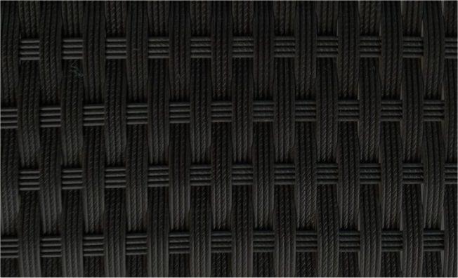 bain de soleil design en resine tressee noire