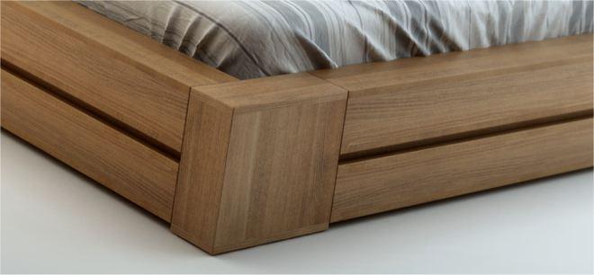 lit bois massif adulte