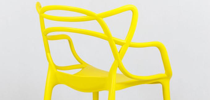 Fauteuil repas design jaune