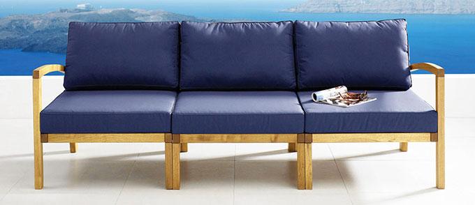 Canapé de jardin bleu