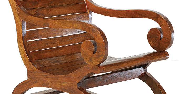 rocking chair bois exotique