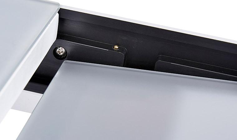 table plateau gris