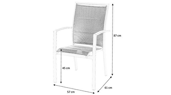 Dimensions fauteuil jardin modulo