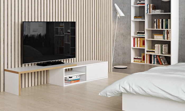 Meuble tv modulable blanc