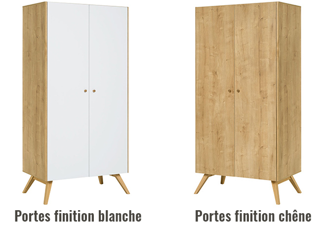 Armoire dressing chene naturel
