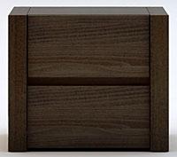 Chevet en bois massif chambre adulte design