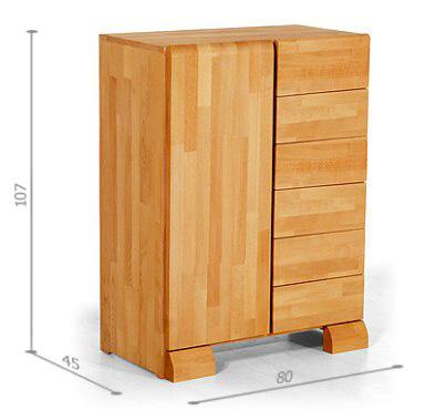 Commode design haute en bois