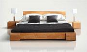 lit en bois naturel design