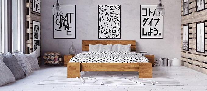 lit haut en bois