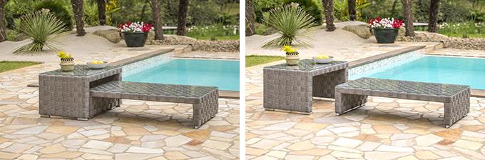 table basse modulable jardin