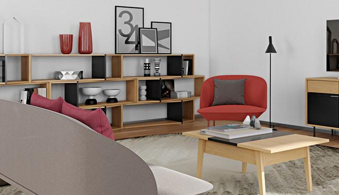 meuble de rangement original