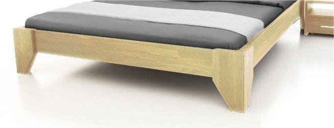 Vente lit 2 places design en bois massif VERDE
